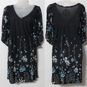 Free People dress Small floral v-neck peasant boho